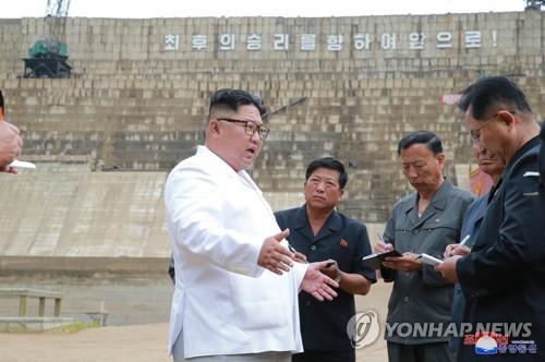 '17년 답보' 北수력발전댐, 김정은 호통 15개월 만에 고속 완공