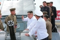 N. Korean leader at shipyard