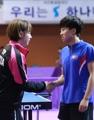 韩朝乒乓姐妹并肩作战