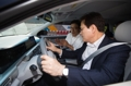 Top financial regulator in fuel cell car