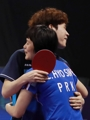 Unified Korean team advances to ping pong semifinals