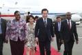 韓国首相 ケニアに到着