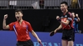 Unified Korean men's doubles team reaches table tennis semifinals