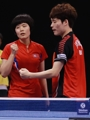 Unified Korean ping pong team reaches mixed doubles final