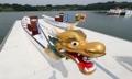 南北合同チームのドラゴンボート