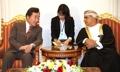 Avec un ministre omanais