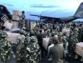 Arrivée des articles de secours au Laos