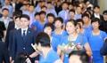 朝鲜亚运选手赴韩训练
