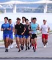 韩朝皮划选手合训备战亚运会