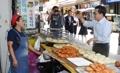 Vice-PM sur le marché de Namdaemun