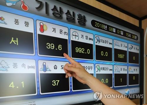 지난 8월1일 39.6도! 111년 만의 서울 최고기온