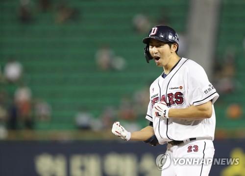 '최강 두산', 11연승 달리던 넥센 격침…2위 SK에 10게임차(종합2보)