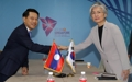 Cancilleres de Corea del Sur y Laos