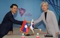 Chefs des diplomaties coréenne et laotienne