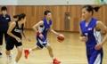 韩朝女篮联队磨合训练