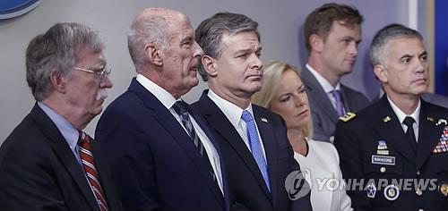"""美안보수장들, 러시아에 경고…""""중간선거 개입시 좌시 않겠다"""""""