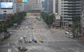 Les rues vides et calmes de Séoul