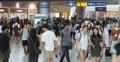 Foule à la gare de Séoul