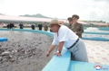 Kim Jong-un dans un élevage de silures