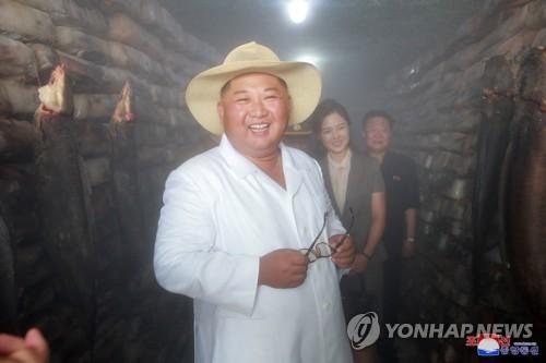 金正恩视察三泉鲇鱼厂