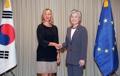 Chefs de diplomatie Corée-UE