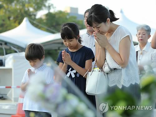 일본 히로시마 원폭투하 73주년 맞아 희생자 추모