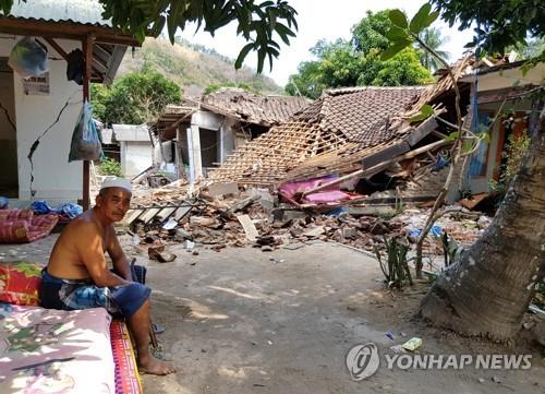 문재인 대통령, 강진 피해 인도네시아에 위로 서한