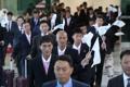 韩朝工人足球赛朝方代表团抵韩