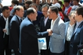 韩朝工人足球赛双方代表会面