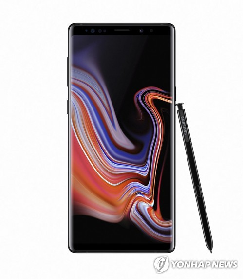 Samsung Galaxy Note 9 in midnight black