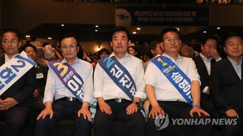 민주 당권주자들, 인천 유세전…수도권서 막바지 표심 경쟁
