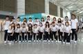 Equipo femenino de balonmano para los JJ. AA. de Yakarta
