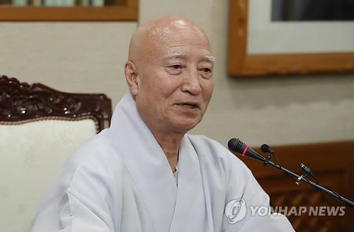 """설정 스님 """"올해 12월31일 총무원장직 사퇴"""""""