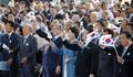 الرئيس مون يرفع علم كوريا