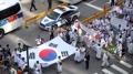 Manifestación cerca de la embajada japonesa