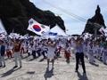 عروض التايكوندو في جزر دوكدو بمناسبة يوم استقلال كوريا