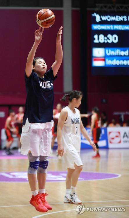 [아시안게임] 여자농구 'Unified Korea' 첫 경기 주전은 남측..