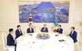 Moon avec les chefs des groupes parlementaires