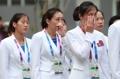 朝鲜亚运代表团举行升旗仪式