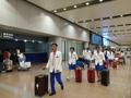 Athlètes nord-coréens à Pékin