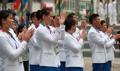 El equipo norcoreano llega a los JJ. AA. 2018
