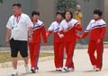 El equipo femenino de lucha libre de Corea del Norte