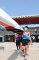 韩朝赛艇联队在印尼合训
