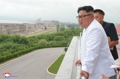 N. Korean leader at construction site