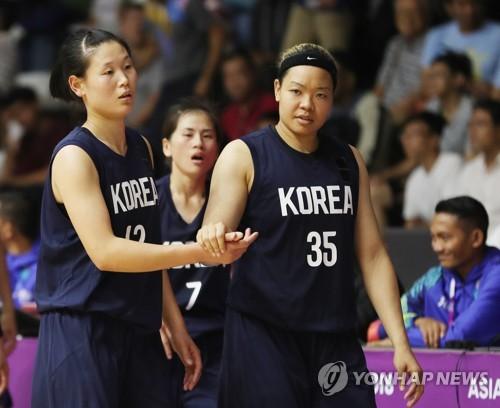 -아시안게임- 로숙영·김한별 분전에도…여자농구 단일팀, 대만에 석패(종합..