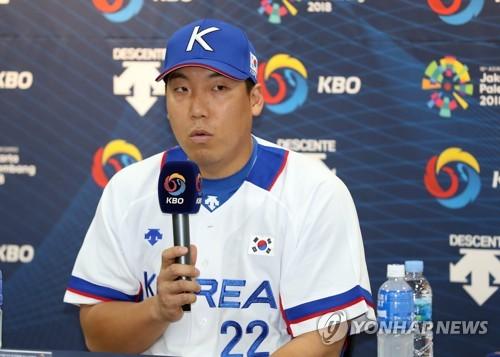 """[아시안게임] 야구대표팀 주장 김현수 """"베이징서 배운 것, 후배와 나눌 .."""