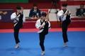 Oro en poomsae de taekwondo en grupo masculino