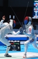 All S. Korean match in women's individual foil at Asiad