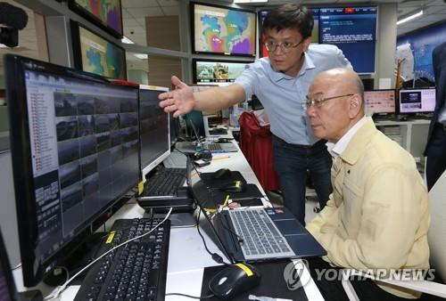 이효성 위원장, 태풍 관련 재난방송 현장점검