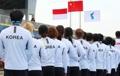 La bandera de la 'Unificación Coreana' en los JJ. AA.